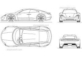 Kleurplaat Porsche 911 Malvorlage Vector Ausmalbild 5445