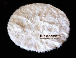 fur accents gy round area rug soft faux fur by round faux fur rug australia