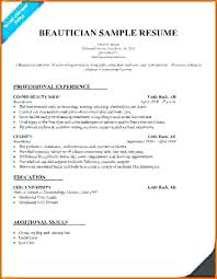 Cosmetologist Resume Fascinating Cosmetology Resume Templates Samples Brilliant Ideas Of Beautician
