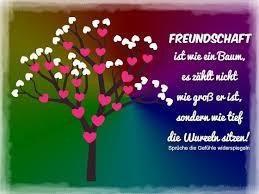 Freundschaft Ist Wie Ein Baum Es Zählt Nicht Wie Groß Er