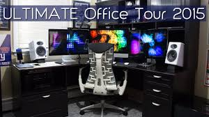 home office technology. ultimate home office tour of a geeku0027s 2015 youtube technology w
