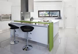 modern kitchen design ideas. Modern Black Stool Facing White Counter And Green Bar Inside Small Kitchen Design Ideas R