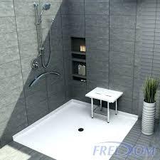 kohler shower base roll in shower pan shower pan for corner roll in shower base kohler