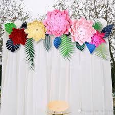 2019 30cm large three dimensional simulation windmill paper flower wedding background flower wall se window photo studio background decor from