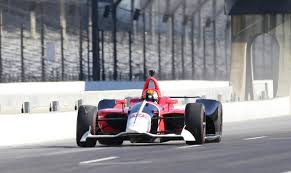 2018 chevrolet indycar. fine indycar oriol servia drives the new 2018 indycar during a test session tuesdsay at  indianapolis motor speedway michelle pemberton star in chevrolet indycar