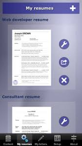 app resume how to make your resume cv with your iphone ipad or android device