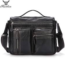 <b>Flanker genuine leather</b> men fashion shoulder handbag flap soft ...