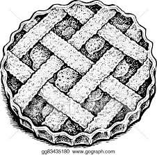 apple pie clip art black white. Interesting Clip Black And White Hand Drawn Vector Illustration Of An Apple Pie In Apple Pie Clip Art White P