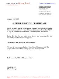 Training Certificate Form Inplant Format Doc Company Pdf Free