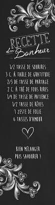 Recette Du Bonheur Créée Par ô Bercail Design Graphique Citation