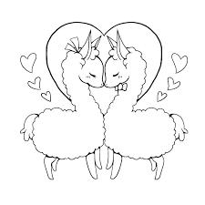 Alpaca Coloring Pages Color Llama Baby Bohemian Page Llamacorn Free