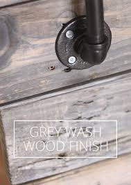 diy grey wash wood finish