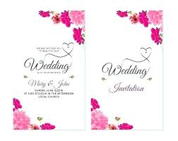 Invitation Cards Template Free Download Wedding Invitation Card Template New Cards Templates Free Download
