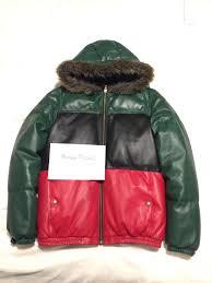fs ftsupreme down leather jacket gucci