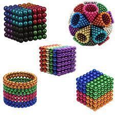 Bi nam châm tròn bucky ball 5mm 6 màu