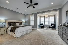 transitional master bedroom. Transitional Master Bedroom With Carpet, Ceiling Fan, Crown Molding, High Ceiling, Pendant