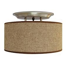 amazon com dream lighting 12v fabric light fixture with brown Celing Light Wiring Diagram For dream lighting 12v fabric light fixture with brown burlap elliptical oval ceiling light shade led