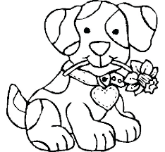 Dog Coloring Pages Online Template For Adults Pictures Coloring