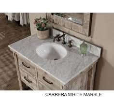 rustic bathroom vanity white white top accos 36