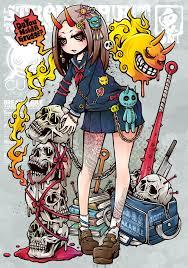 обои аниме девушки аниме оригинальные персонажи татуировка