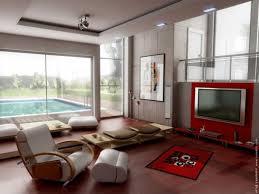 modern zen furniture. Modern Zen Living Room Beside Pool Red Tv Wall Unit Furniture Design Interior