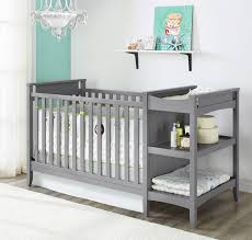 grey baby cribs