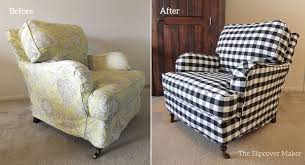 black white buffalo check chair slipcover