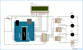 computer controlled home automation using arduino project arduino home automation circuit diagram