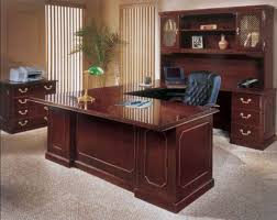 image of u shaped office desk for two persons