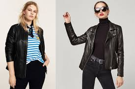 real or faux leather jackets are a fall star