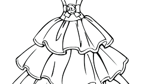 Dress Coloring Pages Barbie Wedding For Adults Ess Disney Princess