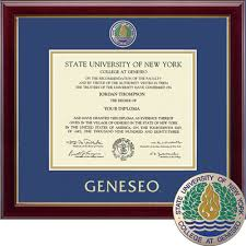 suny geneseo university bookstore church hill classics  church hill classics masterpiece diploma frame bachelors