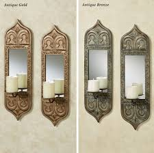 Decorating: Decorative Wall Mirror Sets With Scenic Metal Wall Decor  Featuring Wooden Console Table -