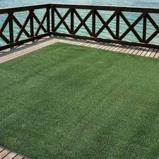 Outdoor Turf Rug Green Artificial Grass Indoor Deck Patio Carpet Mat