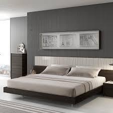 High Quality Ju0026M Furniture Porto 4 Piece Platform Bedroom Set In Light Grey U0026 Wenge