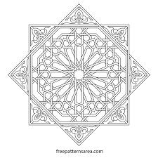 Islamic Geometric Patterns Cool Geometric Islamic Ornament Art Vector Patterns FreePatternsArea