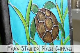 supplies needed to make your own faux stained glass diy canvas painting