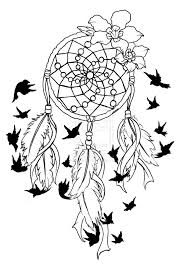 Dream Catchers Sketches Dreamcatcher Coloring Page GetColoringPages 80