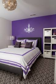 modern bedroom with purple style