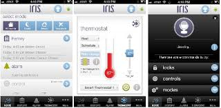 hands on lowe s iris diy home security and home automation screens on the lowes iris app from an iphone