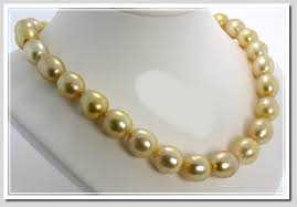 11x14mm 13x15 9mm golden baroque south sea pearl necklace 18k yellow gold clasp 17 5