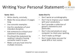 Cv Personal Statement Sample Short Personal Statement Examples
