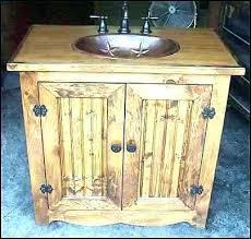 Rustic pine bathroom vanities Reclaimed Rustic Pine Bathroom Vanity Good Western Vanities And Marvelous Brilliant Knotty Vani Naily Alluring Knotty Pine Vanity Bathroom Design Canada Adorable Rustic