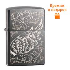 ROZETKA | <b>Зажигалка Zippo Filigree</b> Flame and Wing Design ...