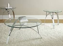 contemporary glass and chrome coffee table new 3 piece glass coffee table set writehookstudio than new