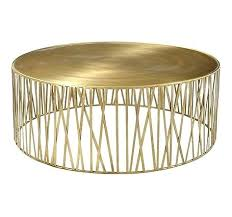 brass cocktail table coffee west elm fisher round
