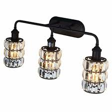 Oil Rubbed Bronze Crystal Vanity Light Details About Lanros 3 Light Vanity Lighting Bathroom Modern Wall Sconce Fixture With Crystal