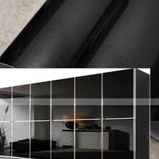 covering furniture with contact paper. gloss black kitchen bedroom furniture cupboard unit cover vinyl home wallpaper contact paper 61x500cm covering with