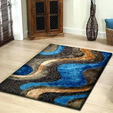 contemporary blue area rugs rug factory plus hand tufted brown blue area rug reviews blue and