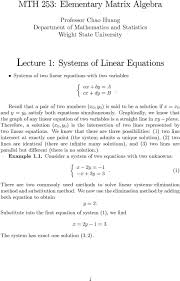 the system has exact one solution 1 graphically we know that the graph of any linear equation of two variables is a